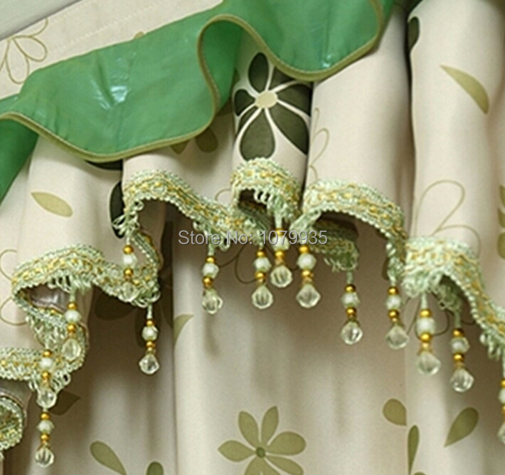 12yards Curtain Lace Accessories Tel Fringe Trim Crystal Bead