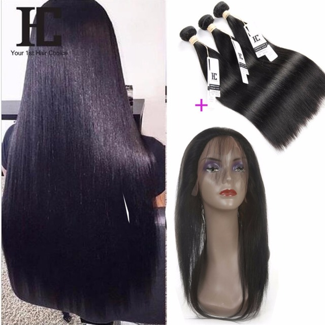 8A Pre Plucked 360 Lace Frontal Closure Brazilian Virgin Hair Straight 360 Frontal With Natural Hairline Baby Hair Frontal Cheap