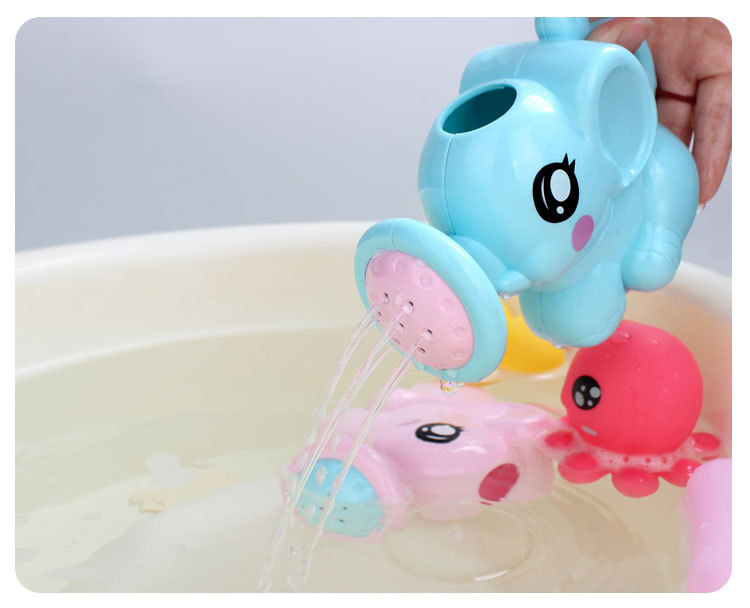 Lovely Baby Bath Toys Elephant Classic Bathroom Shower Water Beach Toy Interactive Swimming Water Spray Kids Bathtub Tool Toys