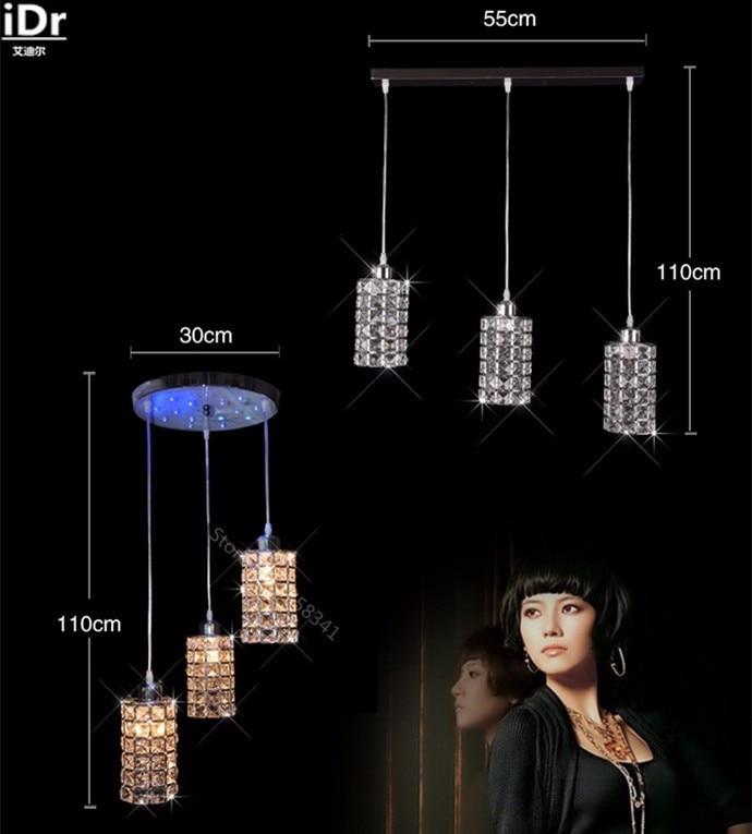 Simple modern crystal LED three meal restaurant bar single head lamp table lamp Pendant Lights Rmy-0248