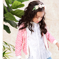 New arrivals 2016 spring 3 4 5 6 7 8 9 10 11 12 years old girl's floral full sleeve 100% cotton knitted cardigan