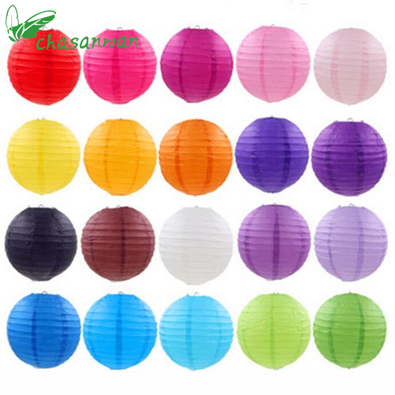 5pcs/lot (10-15-20-25cm) Decorative Paper Ball Lanterns Chinese Paper Lantern for Christmas Wedding Birthday Party Decoration,T