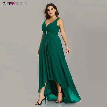 Plus Size Prom Dresses Long 2020 Elegant Burgundy A-line Sleeveless Crystal High Low Ever Pretty Special Occasion Party Gowns 4