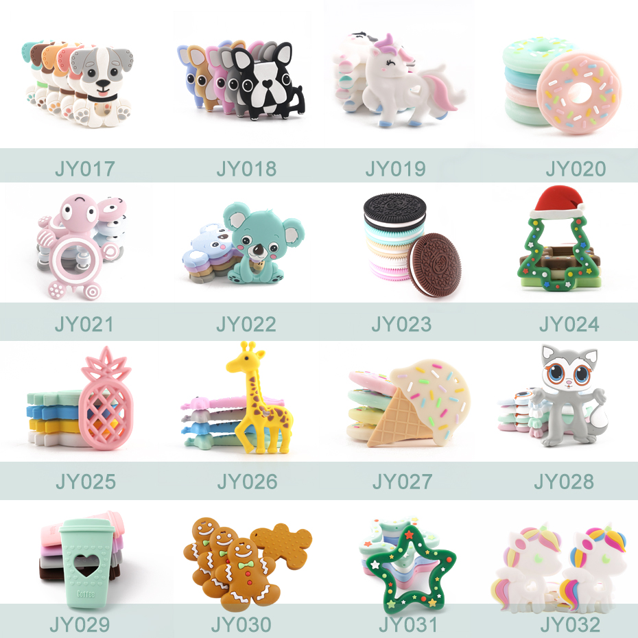 silicone charms