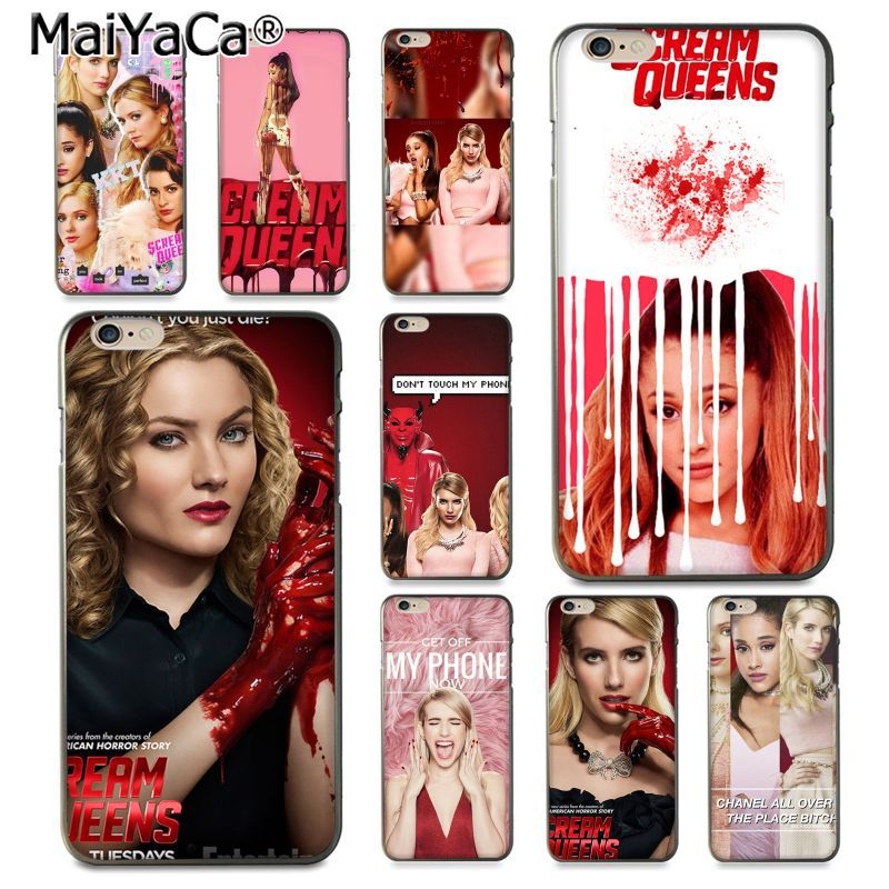 Maiyaca ТВ show scream_queens_poster дизайн моды кожа тонкий ПК cell чехол для iPhone 8 7 6 6 S Plus x 10 5 5S SE 5C Coque В виде ракушки