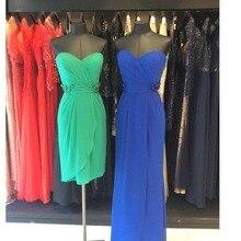 Beliebte Grün Cocktailkleider mit Spaghetti-trägern Herzförmiger ausschnitt Sexy Kurze Länge Party-kleid für Teen robe de cocktail