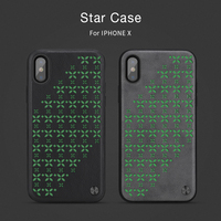 Nillkin Lichtgevende Case Voor Iphone X Glow in de donkere Nacht licht Ster serie PC + TPU Cover PU leather Cases dunne bumper fundas