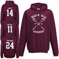 Beacon Hills Lacrosse Con Capucha-Teen Wolf Stilinski Lahey McCall Unisex Con Capucha Top 24 09 14 11 15 37