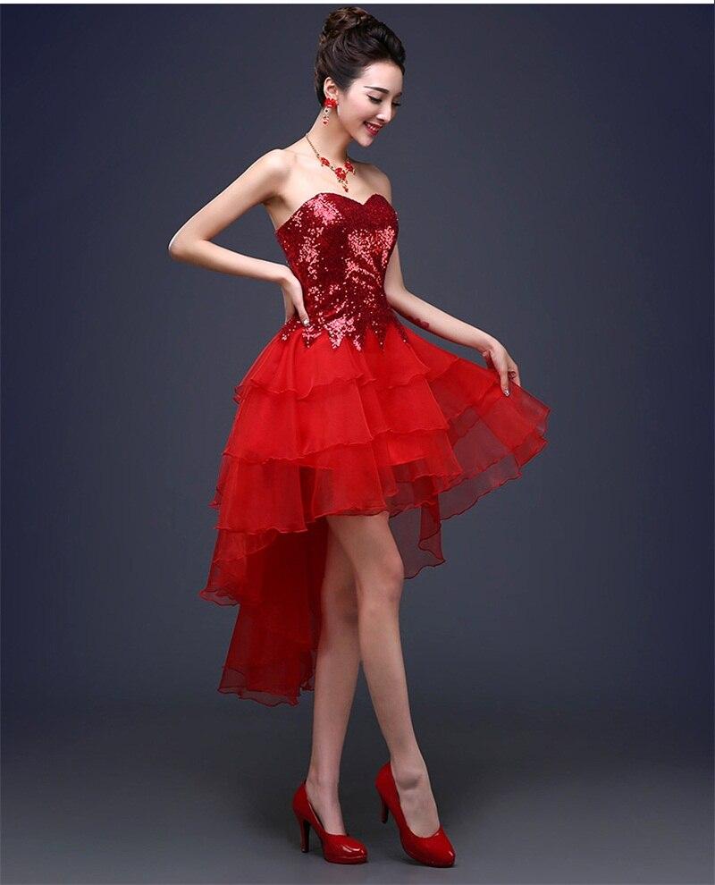 Neue Prinzessin Abendkleider Elegante Braut Kleid Sexy Kurze Vordere ...