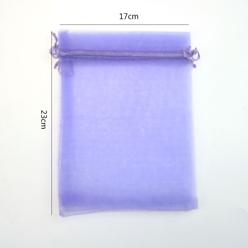 17x23cm Purple Organza Jewelry Bags Bolsas Regalo Organza Small Christmas/Weeding Gift Bags Organza Sachet 500pcs/lot Wholesale