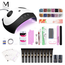 36w Nail Set for Manicure UV LED Lamp With 10pcs Nail Gel Polish Soak Off Products Lasting Gel Kit For Nail Art Tools(China)
