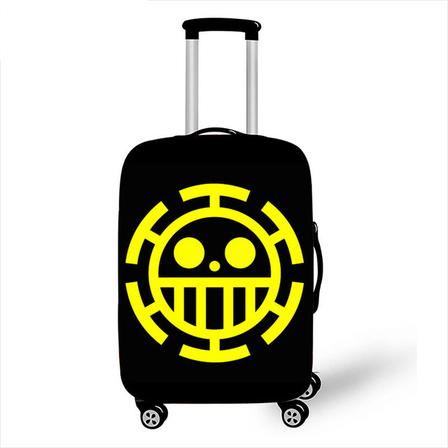 Suitcase Cover Anime One Piece Luffy Trolley Travel Luggage Covers Suitcase Protector Washable Baggage Cover XL