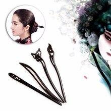 Китайский Традиционные Женские Деревянные Бусы Застежками Шпильки Классическая Леди Волосы Палку