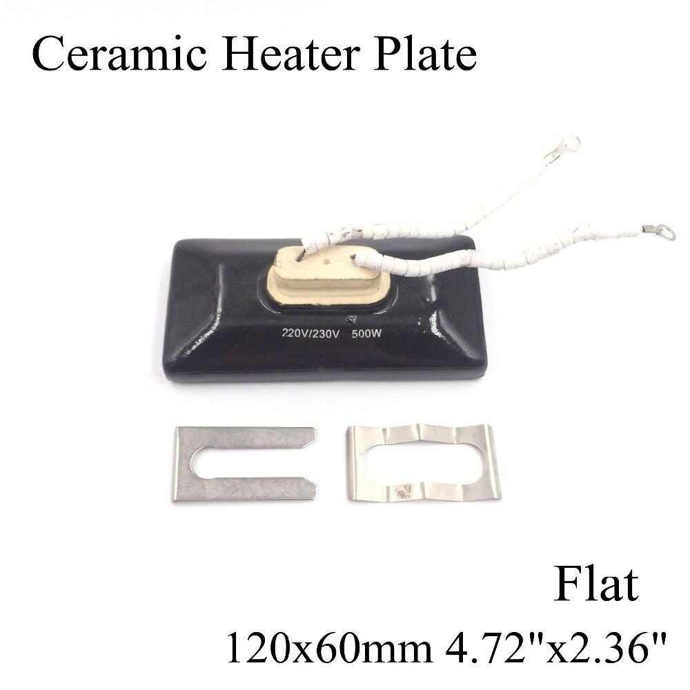 120*60mm Flat Vacuum Injection Molding Machine Repair Far-infrared IR Ceramic Heating Plate Air Ceramic Heater Board Pad For Bga