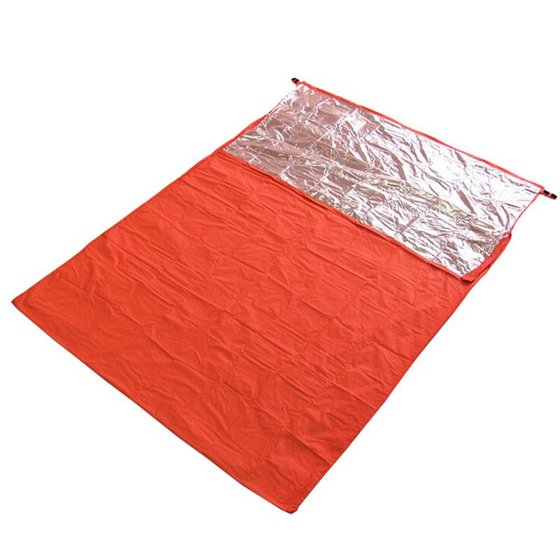 Outdoor Envelope Camping Mountaineering Thermal Reflection Double Sleeping Bag Field Survival Equipment Picnic Blanket
