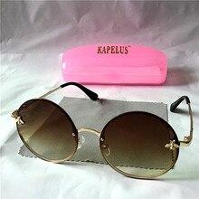 KAPELUS Woman round sunglasses Summer new sunglasse