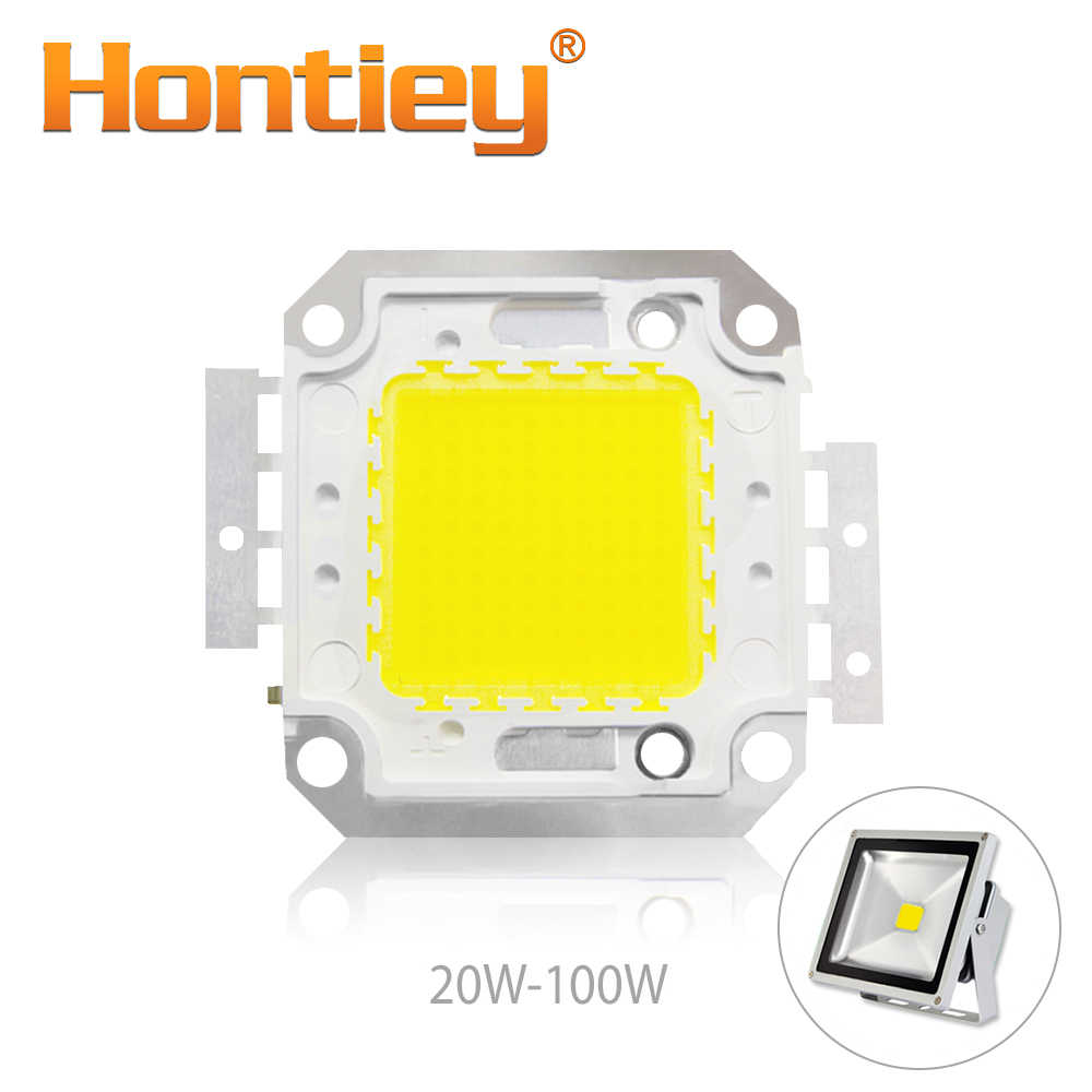 Hontiey High Power LED Matrix 20W 30W 50W 100W Warm Pure White Light Bulb 3000K 4000K 6000K DIY Spotlight Lamp DIY High Bright