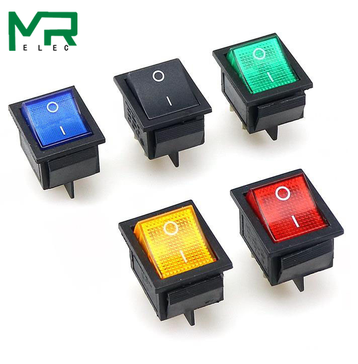 KCD4 Rocker Switch ON-OFF 2 Position 4 Pins / 6 Pins  Electrical Equipment With Light Power Switch 16A 250VAC/ 20A 125VAC(China)