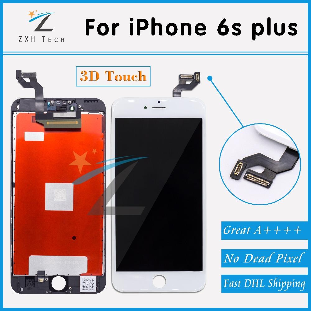 Prix pour 5 PCS/LOT Aucun Spot Disply pour iPhone 6 s plus LCD Full l'assemblée avec 3D Écran Tactile Lentille Pantalla avec Livraison DHL gratuite
