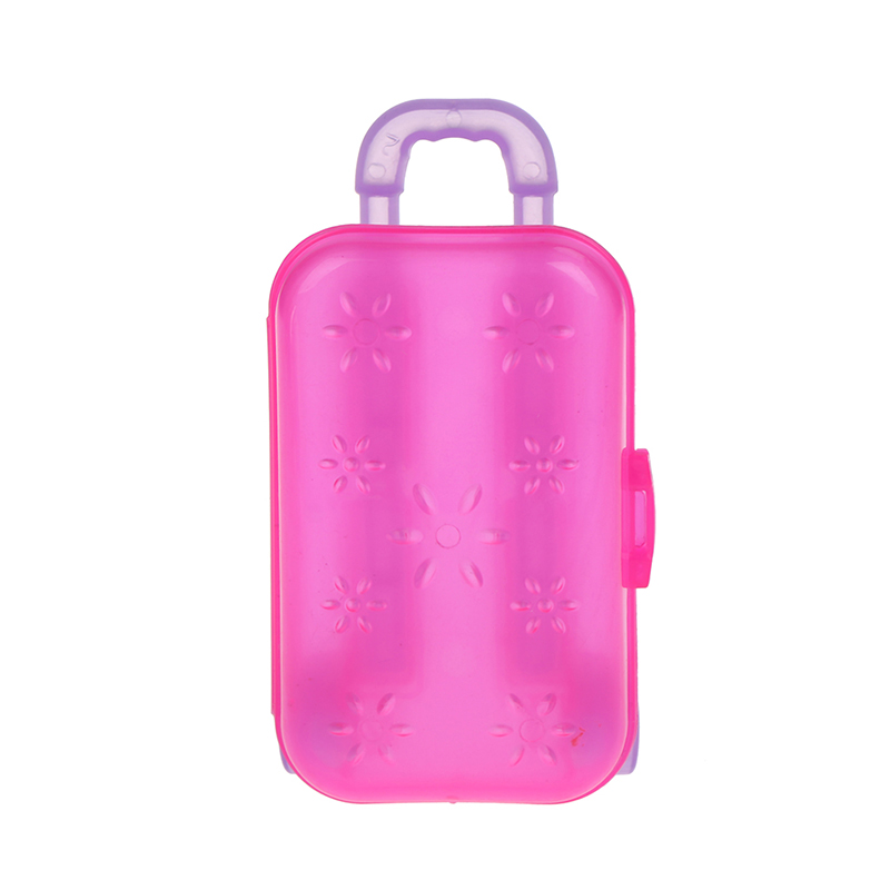 Unisex Doll Trunk Luggage Box Clear Travel Suitcase For High Quality 18 Inch Doll Kids Toy Birthday Girl's Toy Kids Gift