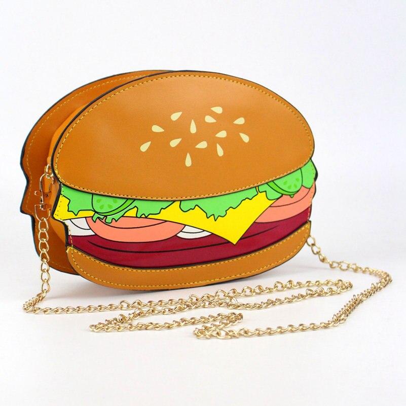 34ae1f8664 Unique Popcorn Shape Women Messenger Bags Leather Handbags Hamburger French  Fries Design Women Clutch Wallet Bag Bolsa Feminina-in Top-Handle Bags from  ...