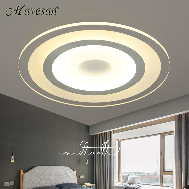 New Circle Indoor Lighting Modern LED Ceiling Lights for Living Room Bedroom Lamp lamparas de techo abajur Ceiling Lamp Fixtures 2017 new arrival hello kitty led ceiling lights for living room bedroom led lustres ceiling lamparas de techo lighting
