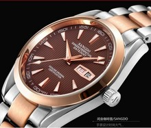 40mm Sangdo Business watch Automatic Self Wind movement 0273f High quality 2016 new fashion Men s