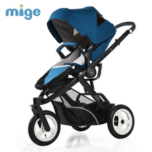 Mige baby stroller high landscape baby stroller newborn can sit reclining folding baby children cart