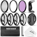 Neewer 58MM Professional UV CPL FLD Lens Filter+Close-up+1 +2 +4+10 Accessory Kit For 58mm Filter Size Lenses For Canon/Nikon