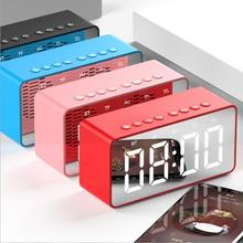 AEC BT506 Clock Version Portable Wireless Bluetooth Speaker HD Display Multi-function Computer Alarm Clock Speaker цена