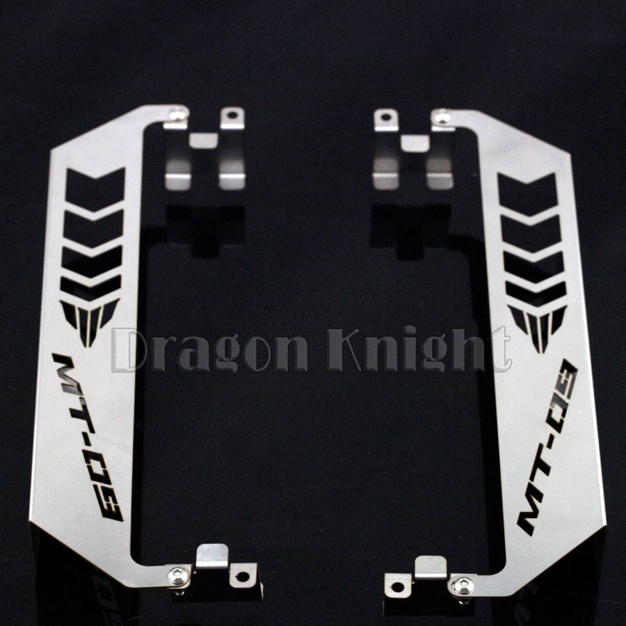 For YAMAHA MT09 MT-09 2014-2015 Motorcycle Accessories Radiator Side Guard Cover Protector Set for yamaha mt 07 mt 07 fz07 mt07 2014 2015 2016 accessories coolant recovery tank shielding cover high quality cnc aluminum