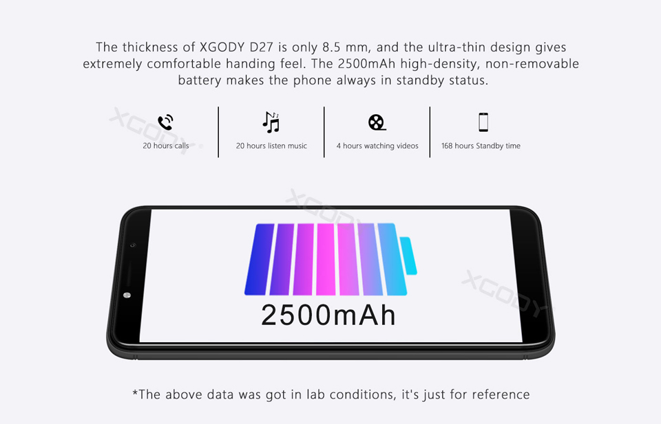 XGODY D27 5.5'' Dual Sim Full Screen Mobile Phone