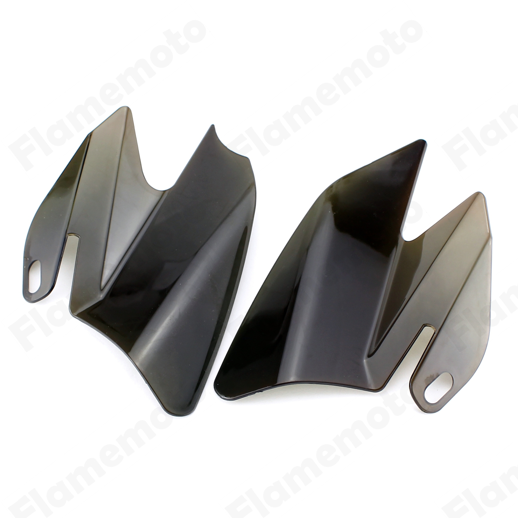 Motorcycle Parts Saddle Shield Heat Deflectors For Harley Touring Road King Electra Glide FLHR FLTR FLHT FLHX 2008 Smoke motorbike parts saddle shield heat deflector for harley touring road king street glide trike flht fltr flhr 2009 2016 chrome