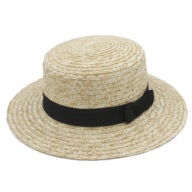 Moda Feminina Verão Velejador Toquilla Palha chapéu de Sol Para Elegante  senhora Top Sunbonnet Chapéu de 50bdbf029b5