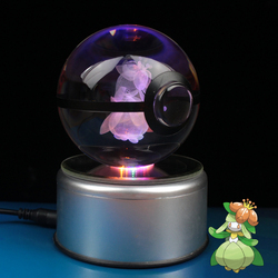 Lilligant Design Crystal Poke Ball 3D Pokemon Figures Kid's Birthday Graduation Gifts