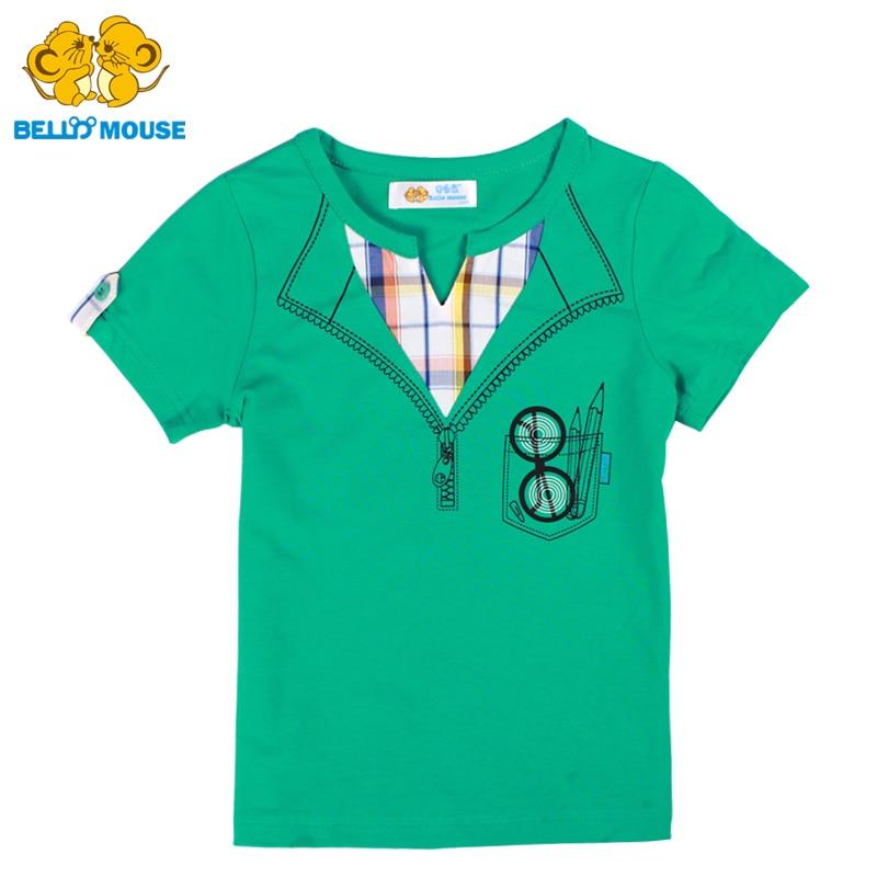 Original Bello Mouse cute Boys Short Sleeve Cotton T Shirt Summer male Children Sport Shirt lively