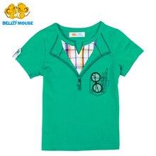D'origine Bello Souris mignon Garçons Manches Courtes En Coton T-Shirt D'été mâle Enfants Sport Chemise animé Kids style classique T-shirt