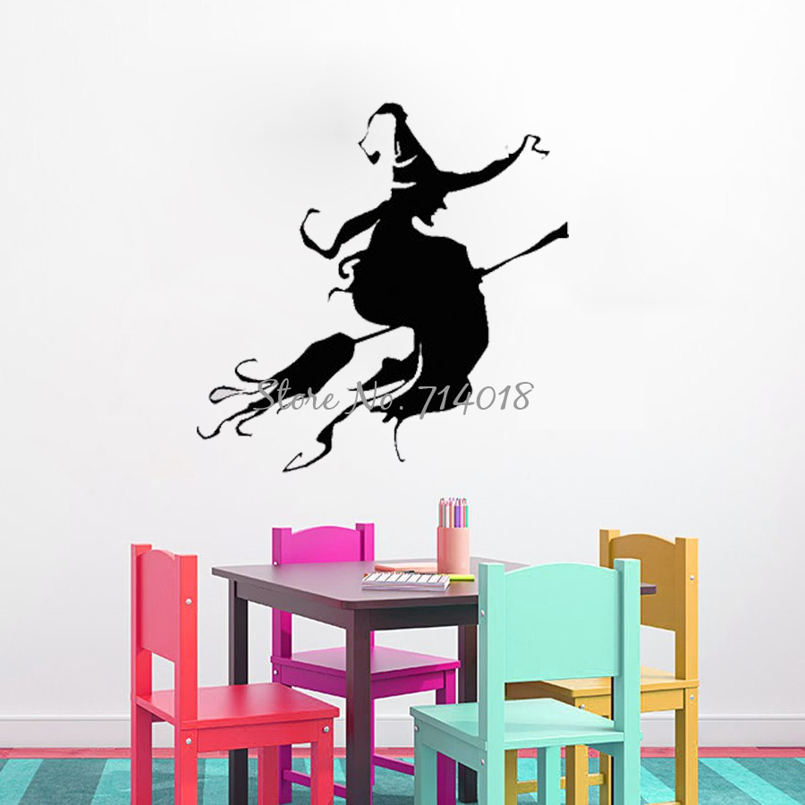 Bent Crow Gothic Silhouette Wall Decals Animal Vinyl Adhesive Art Murals Removable Stickers Home Decor For Kids Room