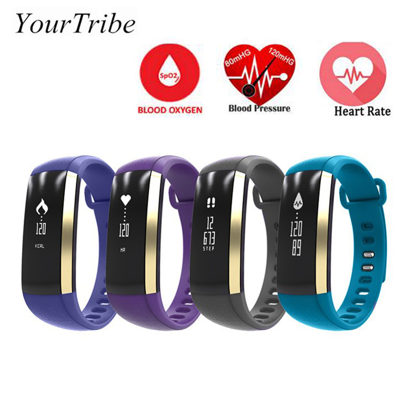 YourTribe M2 Smart Band Heart Rate Blood Pressure Pulse Meter Bracelet Fitness Smartband for iOS Android
