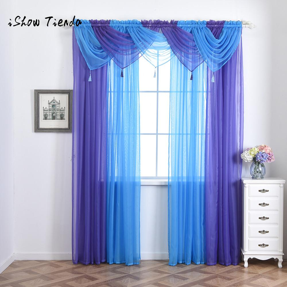 Pelmet Valance Voile Curtain Swags All Colours Net Curtains Swag Living Room Window Kitchen Bedroom Swagcurtain Aliexpress