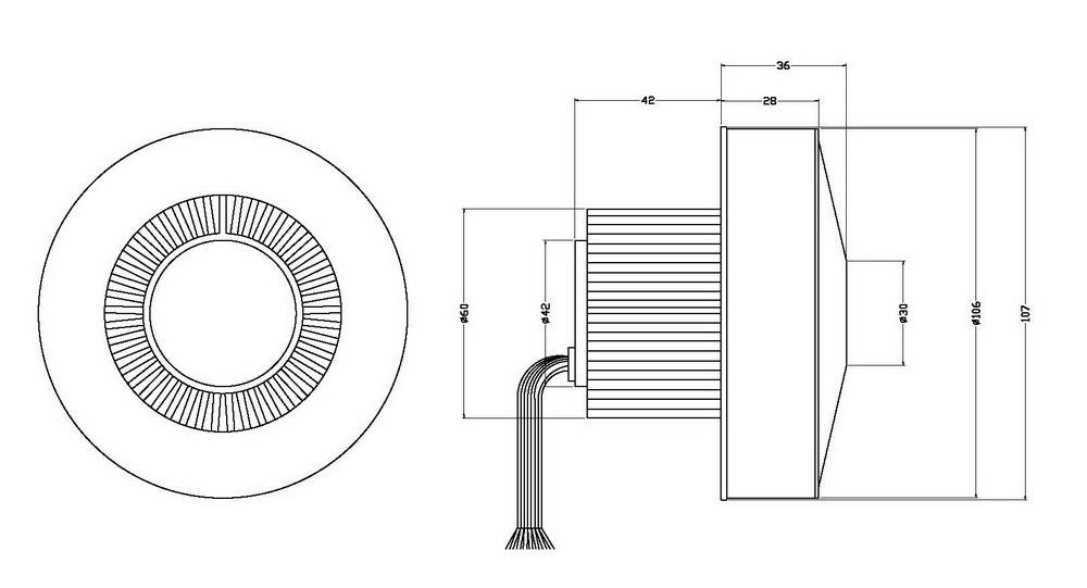 Купить 220 Вт 48 В 9.5kPa Низкий Уровень Шума Высокого Давления BLDC Центробежные Воздуходувки + 1 шт. Вождения Контроллер Для Плантатора или промышленные Обеспыливания дешево