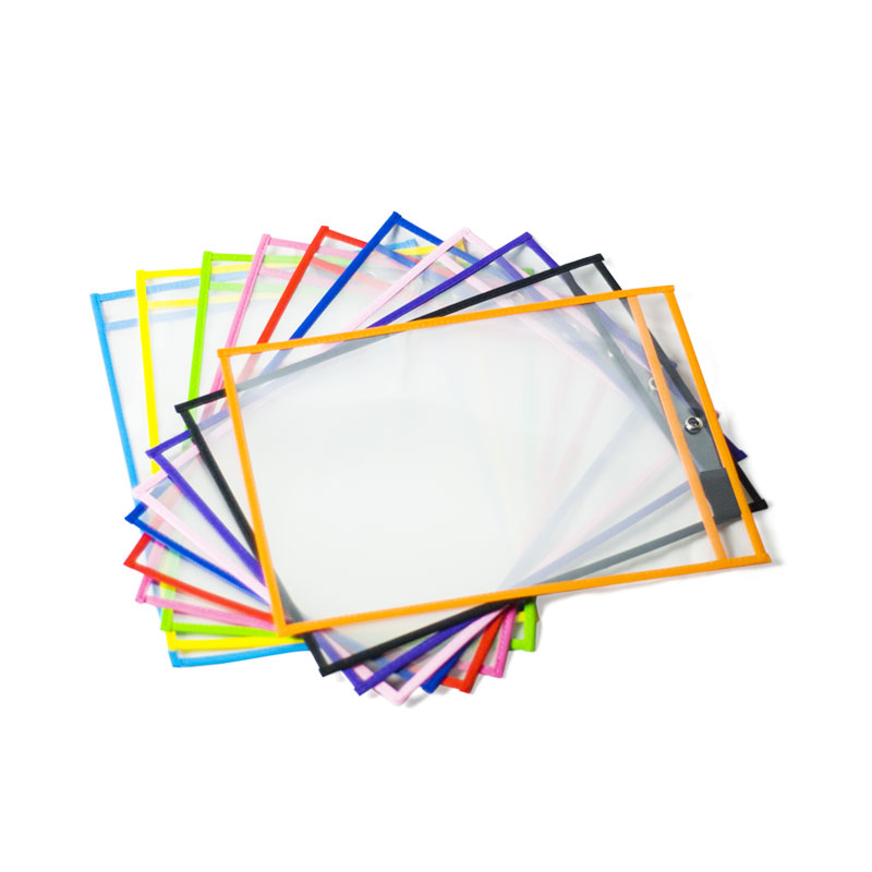 Image 4 - Dry Erase Pockets Reusable Oversized Size 10 X 13 inches Perfect Teacher Supplies for Classroom Organization and Decorations-in File Folder from Office & School Supplies