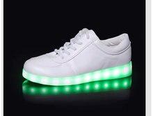 11 цветов светодиодная лампа повседневная обувь usb зарядка