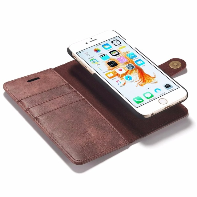 info for c8ef6 fd9e3 US $13.2 |DG.MING 6S Plus Wallet Case For iPhone 6S Cover Luxury PU Leather  3 Card Slot 5S SE 6G Magnetic Cover for iPhone 6 Plus Case-in Wallet Cases  ...