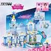 YNYNOO 344pcs 37023 Dream Snow Princess Elsa Ice Castle Princess Anna Set Model Building Blocks