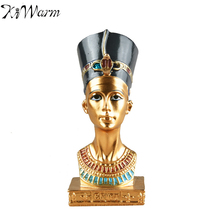 4.5inch Ancient Egyptian Pharaoh Sculpture Ornament Synthetic Resin Figurine Statue Home Furnishing Office Decoration