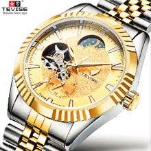 TEVISE Automatic Self-Wind Man Wristwaches Men Mechanical Watches Automatic  watch Skeleton Watch Male Clock Relogio Masculino цена в Москве и Питере