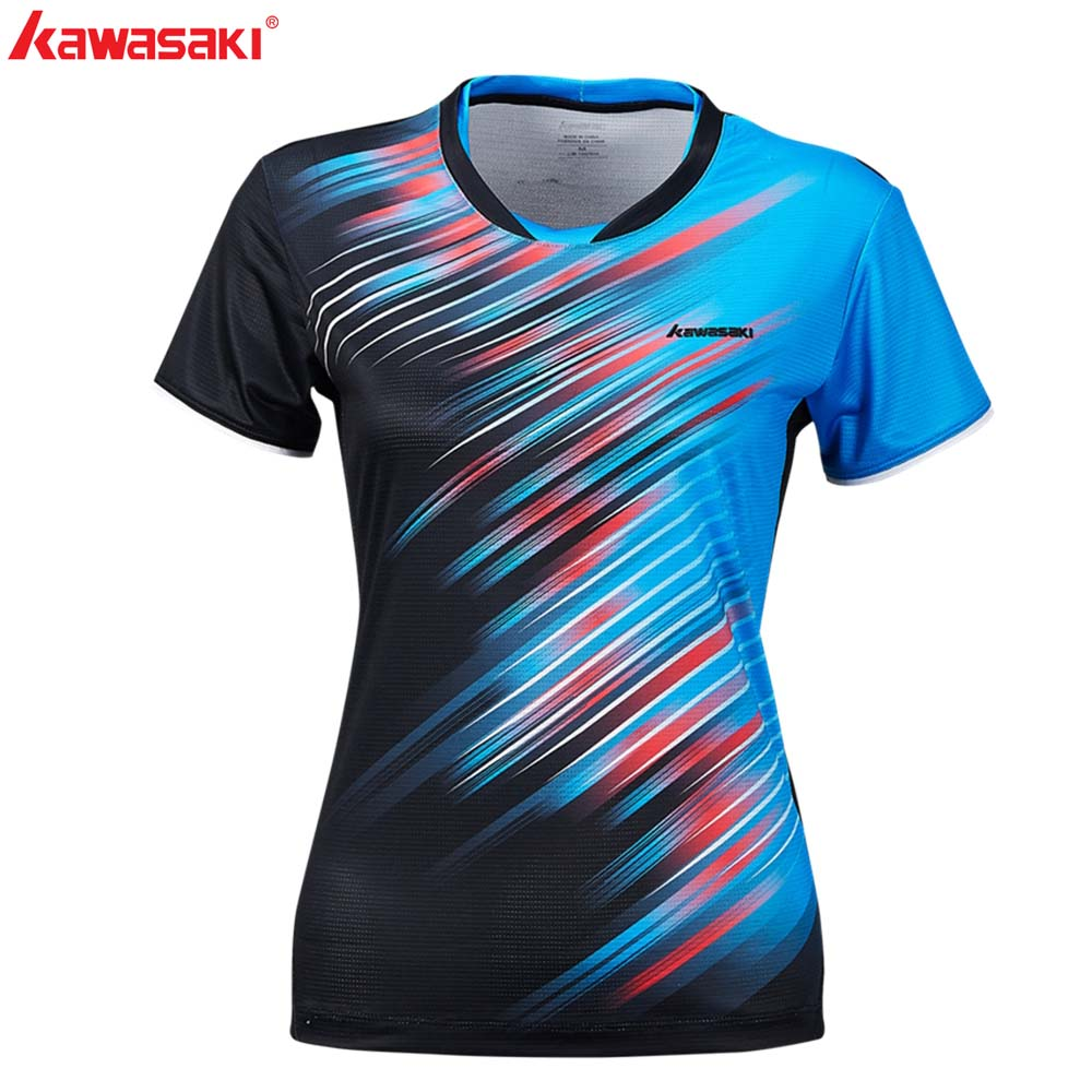 KAWASAKI Summer Gym Fitness Women Sports T-Shirt Quick Dry Short Sleeve Running Badminton Tennis T Shirt ST-S2128