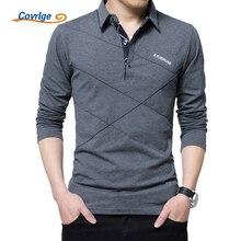Covrlge Polo Shirt Men 2018 Spring Mens Long Sleeve Polo Shirts Plus Size 3XL 4XL 5XL Brand Male Poles Solid Tee Shirt MTP039