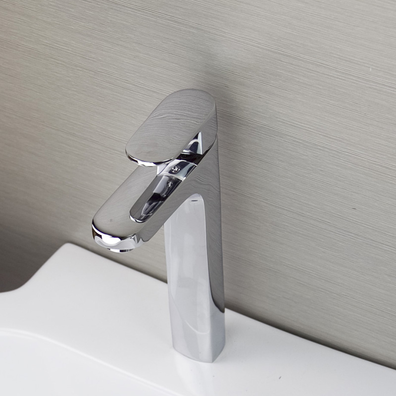 Modern New Chrome Solid Brass Kitchen Faucet Swivel Spout Spring Vessel Sink Mixer Tap Single Handle